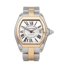 Cartier Roadster Stainless Steel and Yellow Gold 2510 or W62031Y4 Wristwatch