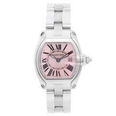 Cartier Ladies Stainless Steel Roadster Quartz Wristwatch Ref W62016V3