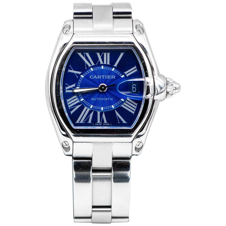 Cartier Roadster Stainless Steel Watch 604578MX For Sale