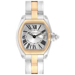 Cartier Roadster Steel 18 Karat Yellow Gold Ladies Watch W62026Y4