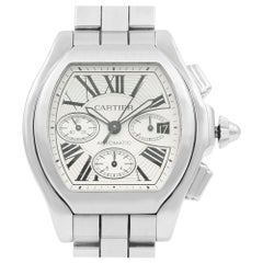 Cartier Roadster Steel Silver Tonneau Dial Automatic Men Watch W6206019 Mint B/P