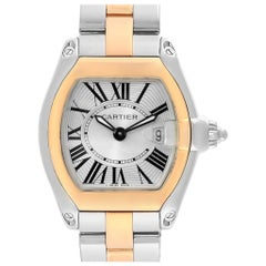 Cartier Roadster Steel Yellow Gold Small Ladies Watch W62026Y4