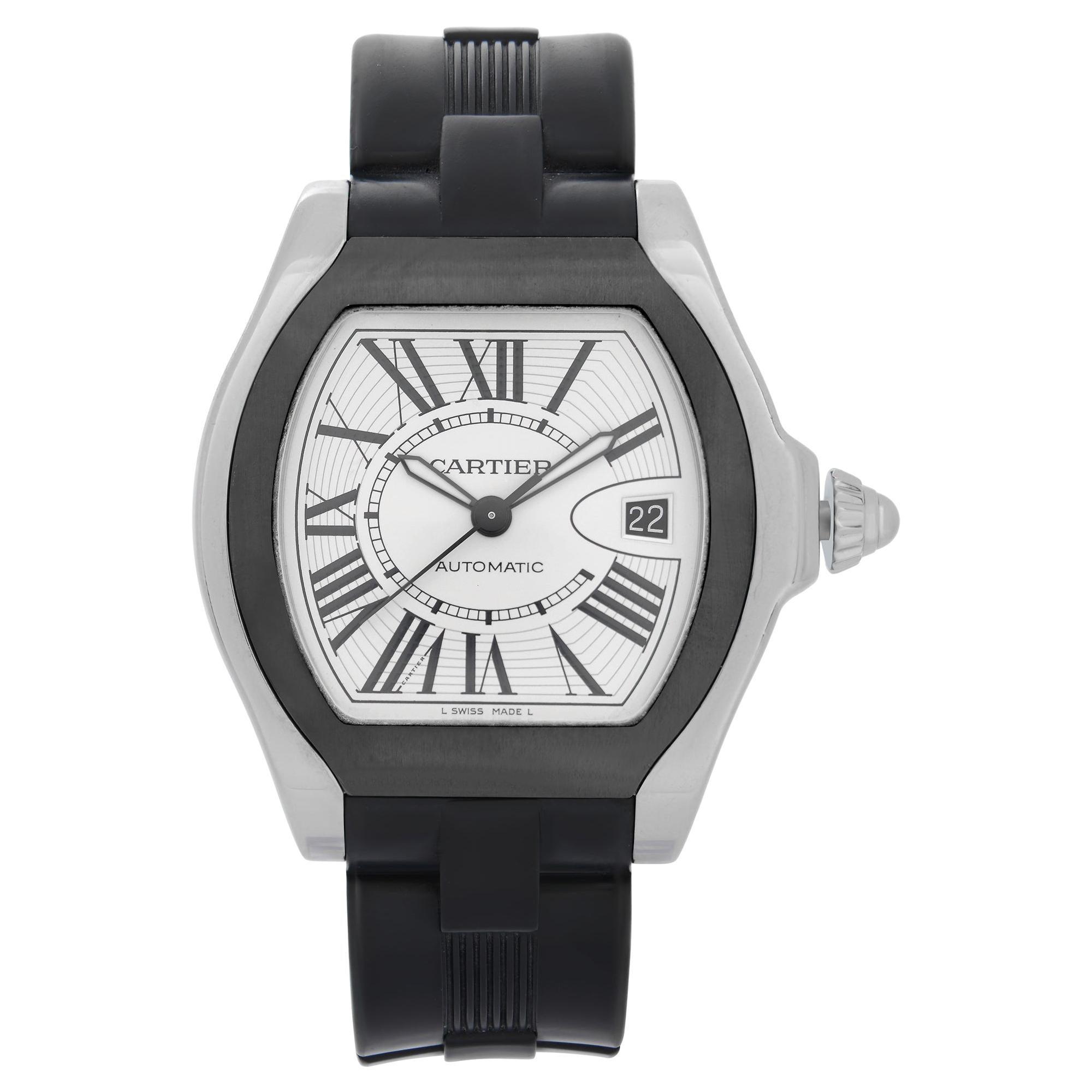 Cartier Roadster Tonneau Steel Silver Dial Automatic Men's Watch W6206018