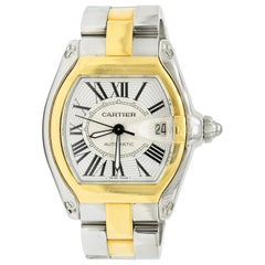 Cartier Roadster Unisex Large Two-Tone 18K Gold Automatic Men's Watch