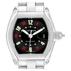 Cartier Roadster Vegas Roulette Red Green Men's Watch W62002V3 Box Papers