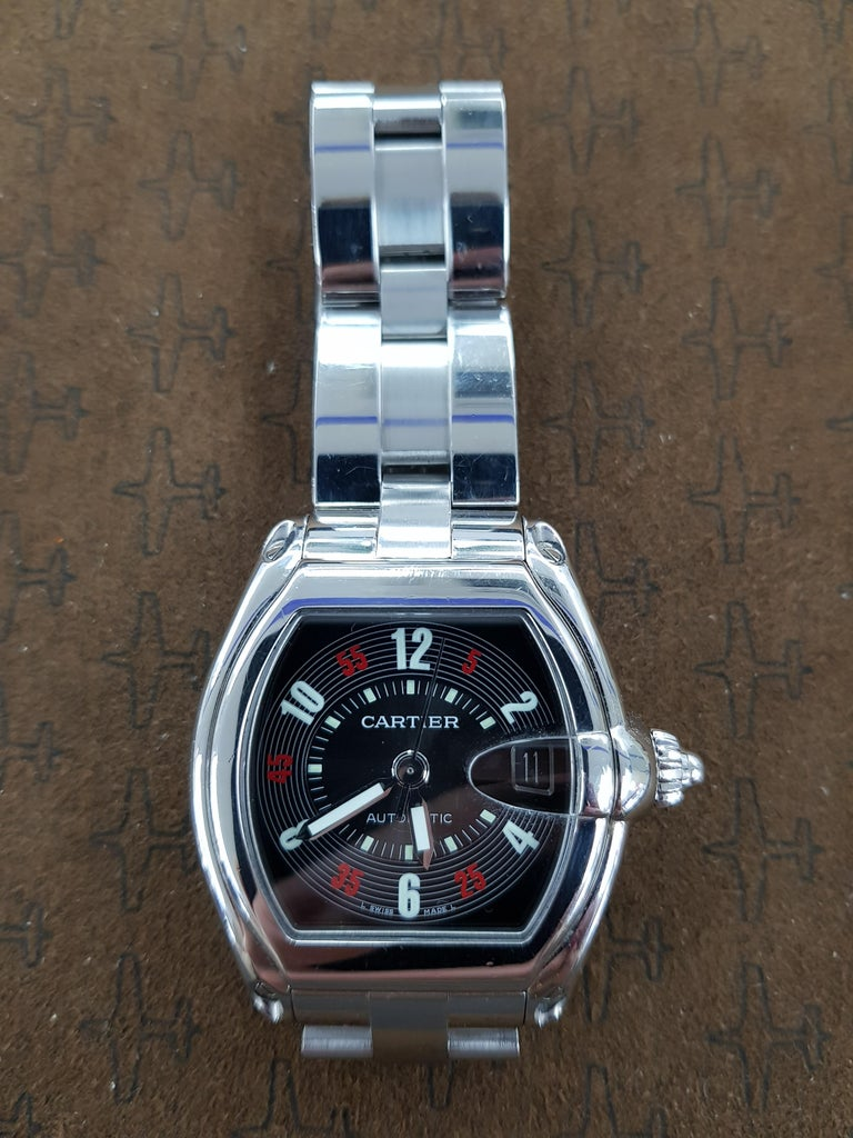 Cartier Roadster Chrono - stainless steel. This watch comes with full Cartier certification.