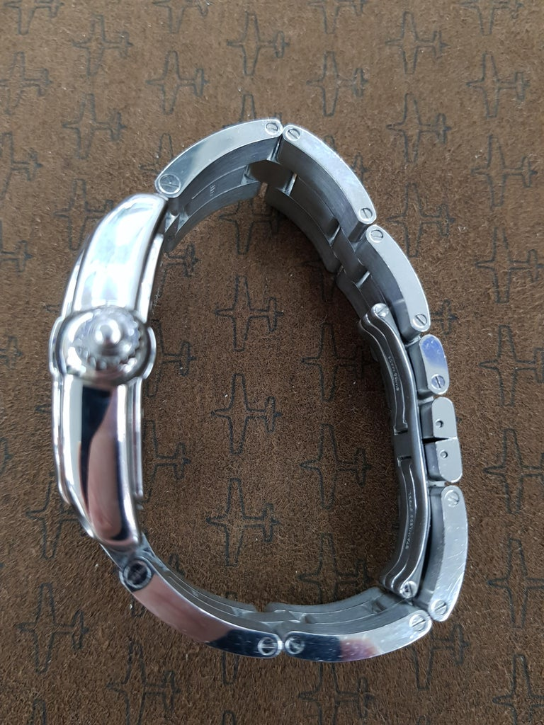 Contemporary Cartier Roadster Vegas Style, Stainless Steel, Registered, 2006 For Sale