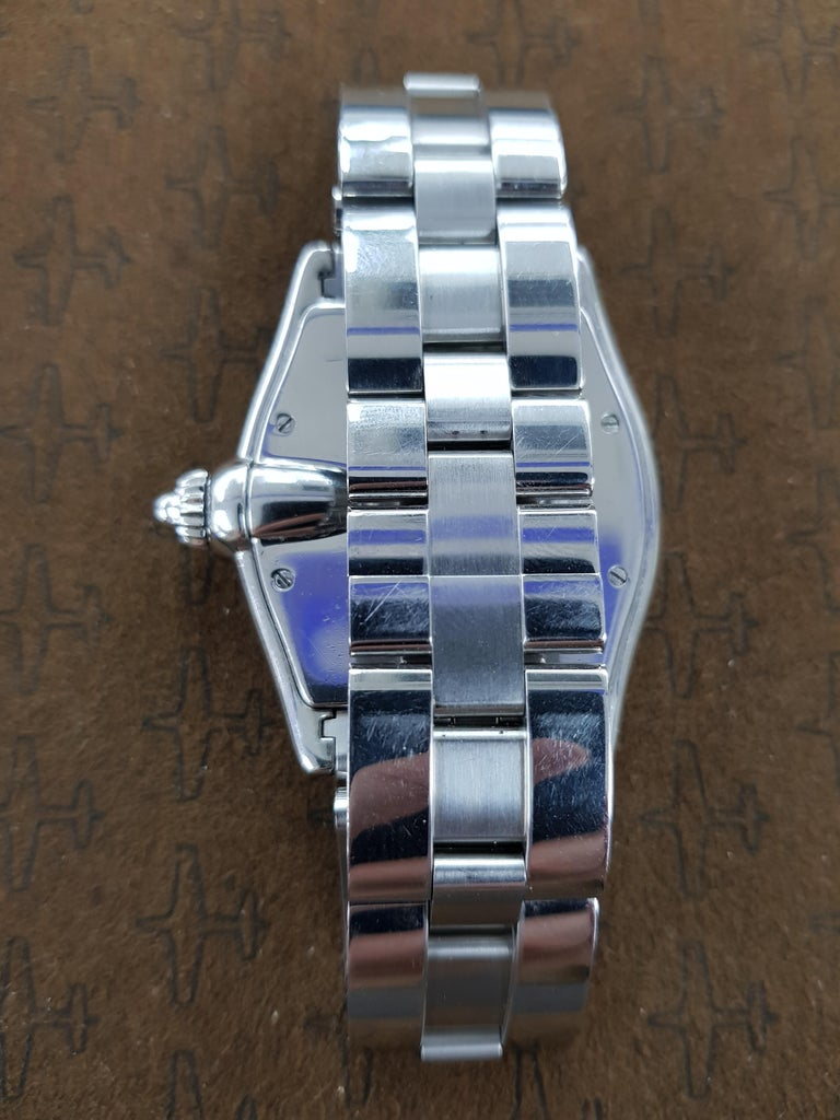 Cartier Roadster Vegas Style, Stainless Steel, Registered, 2006 In Excellent Condition For Sale In London, GB
