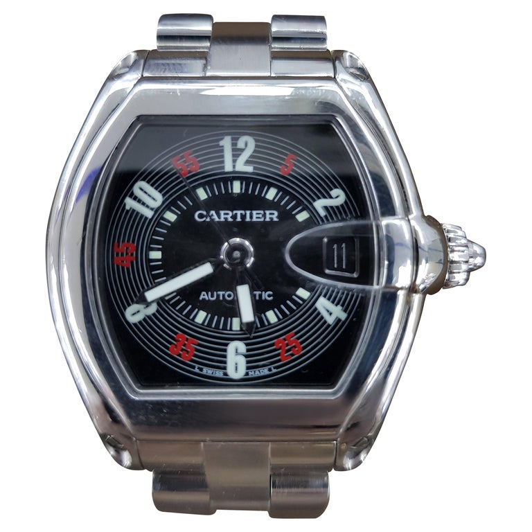 Cartier Roadster Vegas Style, Stainless Steel, Registered, 2006 For Sale