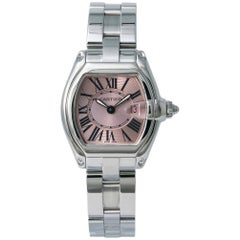 Cartier Roadster W62017V3, Pink Dial, Certified and Warranty
