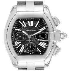 Cartier Roadster XL Chrono Black Dial Steel Men's Watch W62020X6