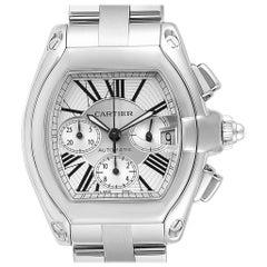 Cartier Roadster XL Chronograph Automatic Men's Watch W62019X6 Box