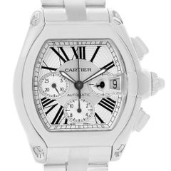 Cartier Roadster XL Chronograph Automatic Men's Watch W62019X6 Box