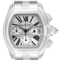 Cartier Roadster XL Chronograph Roman Numerals Men's Watch W62019X6