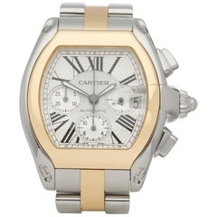 Cartier Roadster XL Chronograph Stainless Steel and Yellow Gold 2618