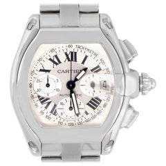 Cartier Roadster XL Silver Chronograph Dial Watch
