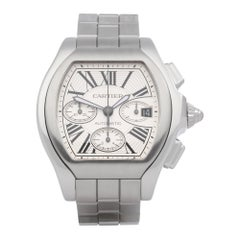 Cartier Roadster XL W6206019 or 3405 Men Stainless Steel Chronograph Watch
