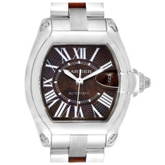 Cartier Roadster XL White Gold Walnut Wood Limited Edition Watch W6206000