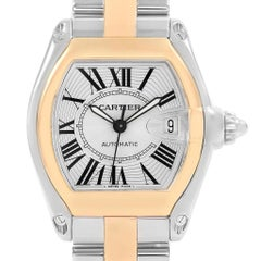 Cartier Roadster Yellow Gold Steel Automatic Men's Watch W62031Y4 Box