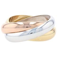 Cartier Rolling Ring Yellow, White and Rose Gold, 18 Karat Designer Band