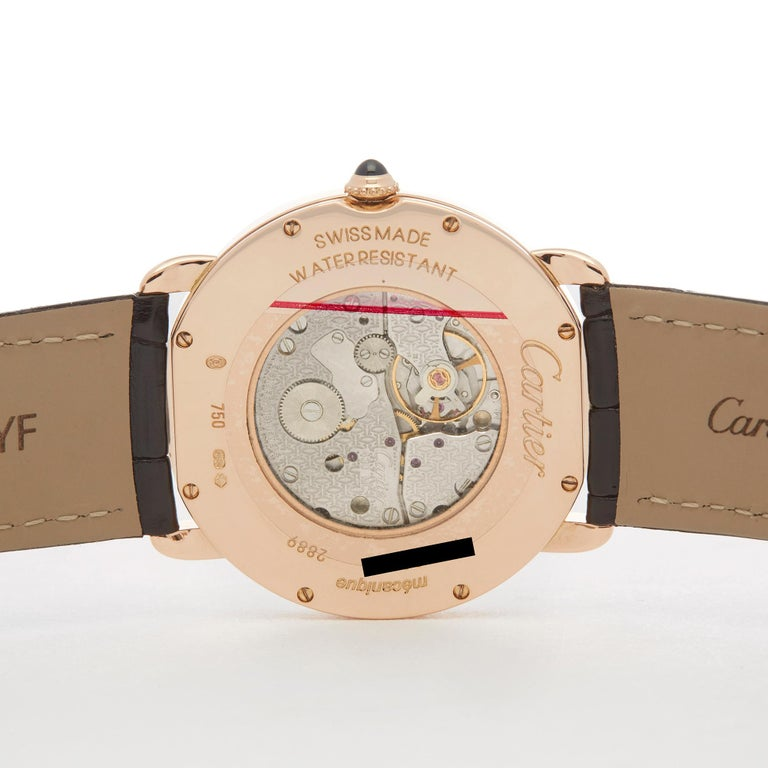 Cartier Ronde 18 Karat Rose Gold 2889 For Sale 2