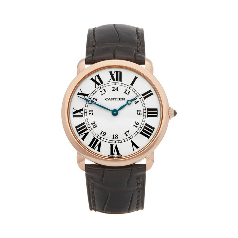 Cartier Ronde 18 Karat Rose Gold 2889 For Sale