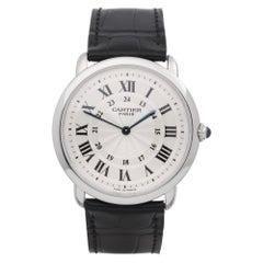 Cartier Ronde 2452 Unisex Platinum Watch