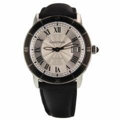 Cartier Ronde Croisiere de Cartier Steel Silver Automatic Watch WSRN0002