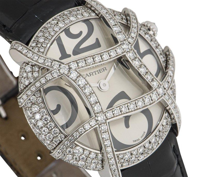 Cartier Ronde Folle Libre White Gold Diamond Set WJ304350 In Excellent Condition For Sale In London, GB
