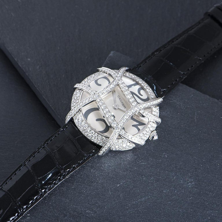 Cartier Ronde Folle Libre White Gold Diamond Set WJ304350 For Sale 2