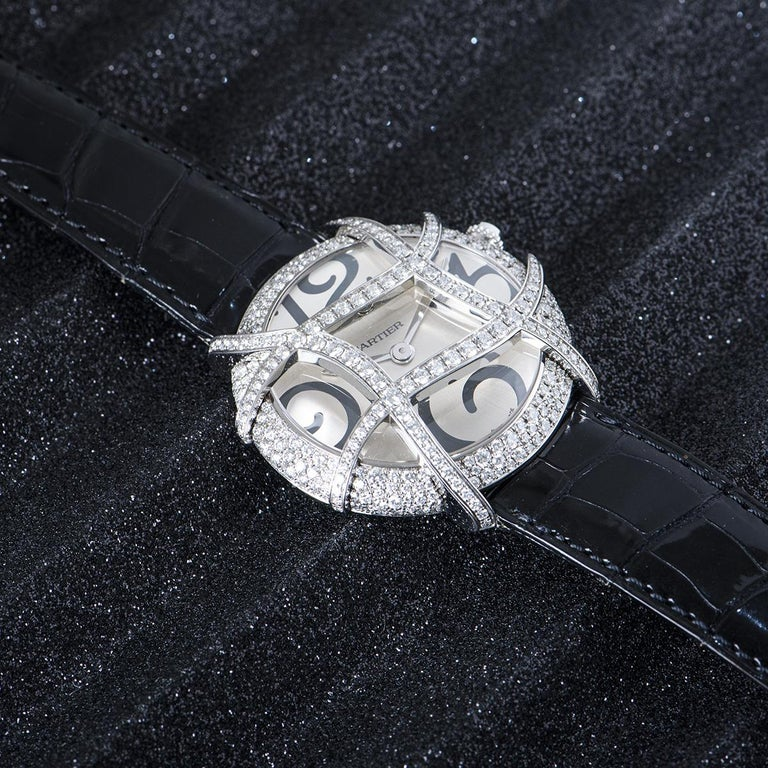 Cartier Ronde Folle Libre White Gold Diamond Set WJ304350 For Sale 4