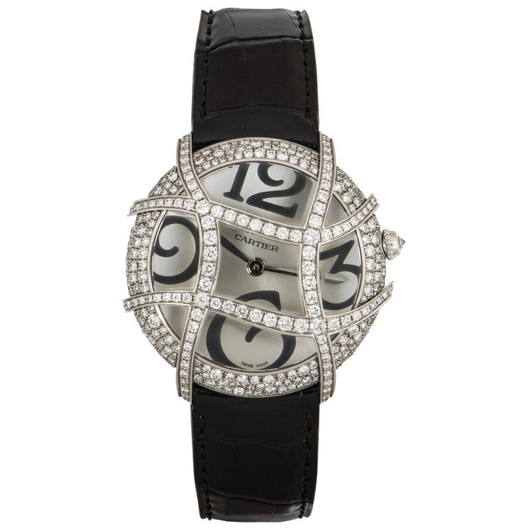 Cartier Ronde Folle Libre White Gold Diamond Set WJ304350 For Sale