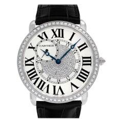 Cartier Ronde Louis Cartier WR007004; Black Dial, Certified