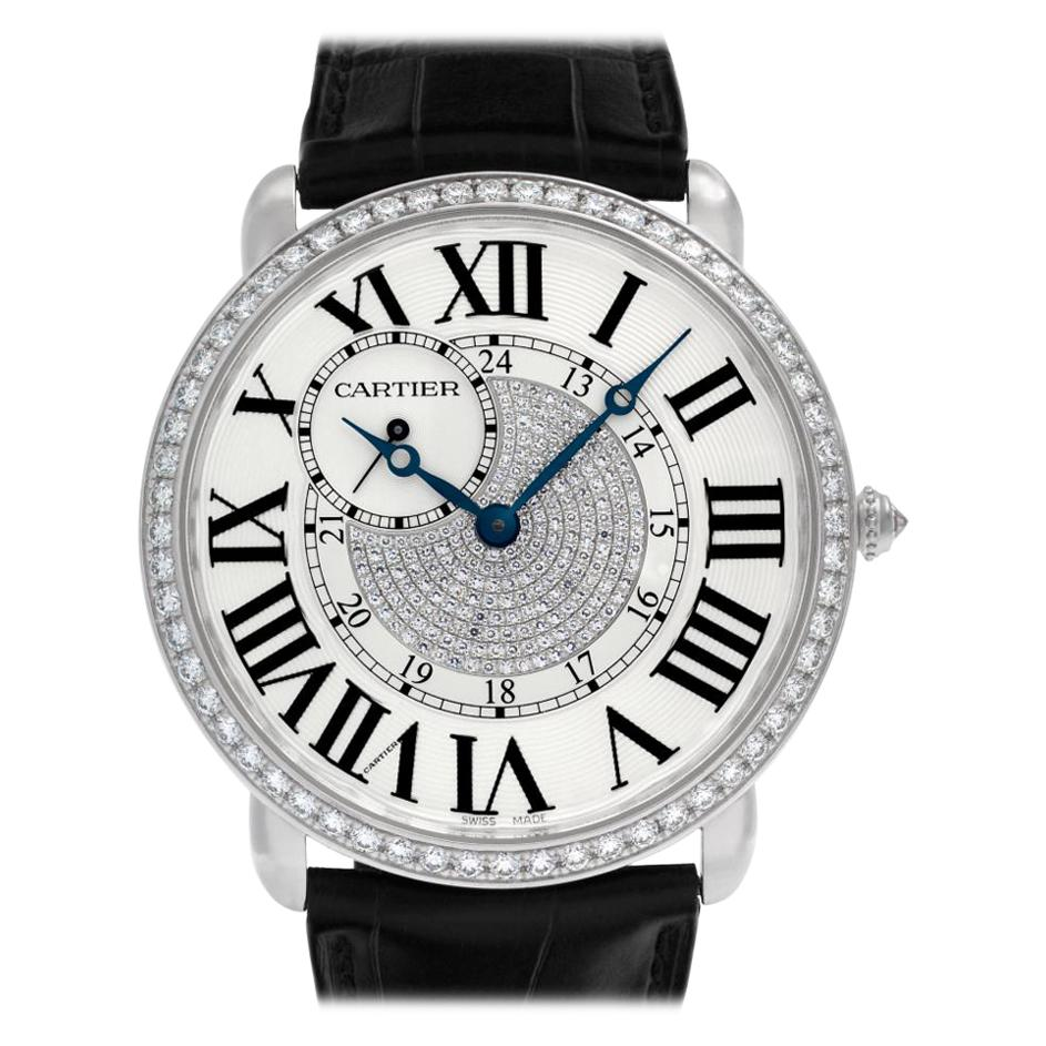 Cartier Ronde Louis Cartier WR007004, White Dial, Certified