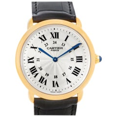 Cartier Ronde Louis Privee 18 Karat Yellow Gold Mechanical Men's Watch