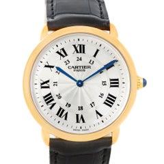 Cartier Ronde Louis Privee 18 Karat Gelbgold Mechanische Herrenuhr