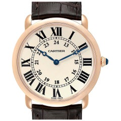 Cartier Ronde Louis Rose Gold Silver Dial Men's Watch W6800251