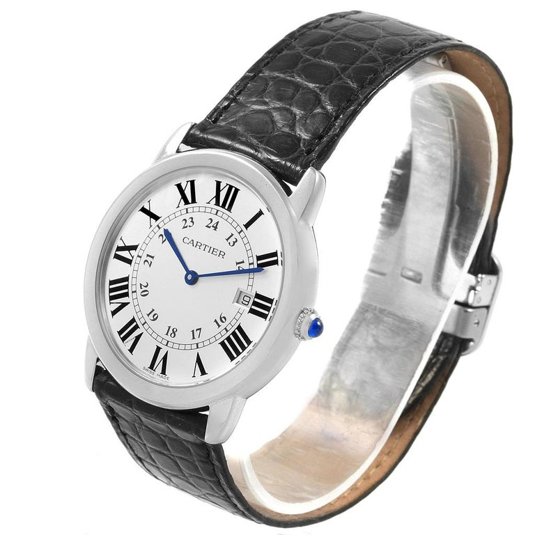 Cartier Ronde Solo Large Steel Silver Dial Unisex Watch W6700255 For Sale 1