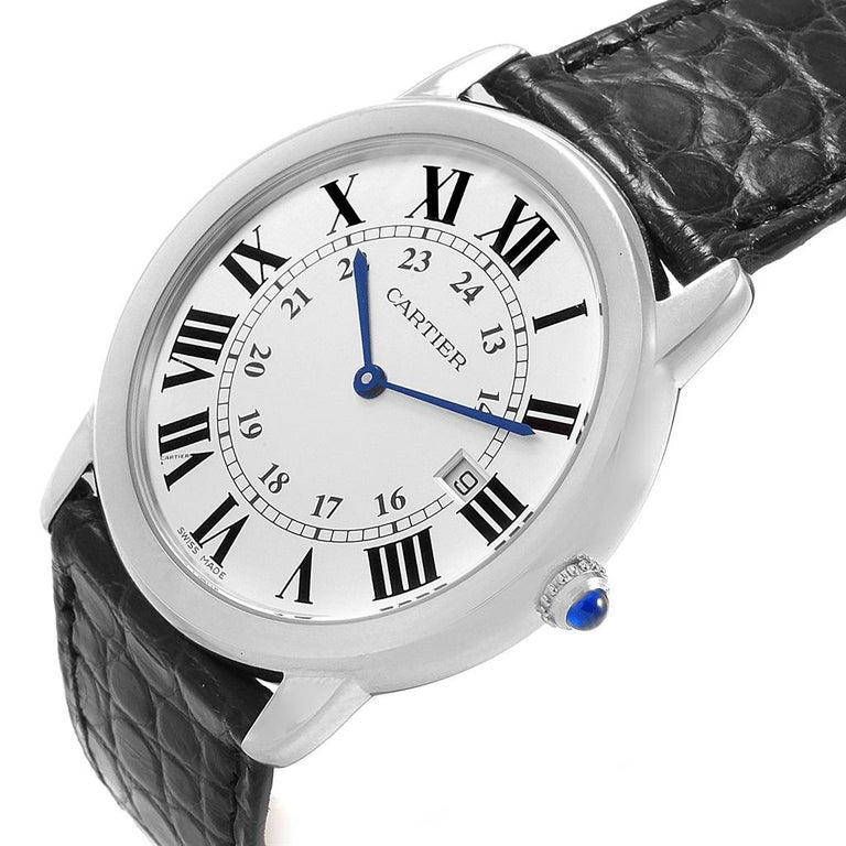 Cartier Ronde Solo Large Steel Silver Dial Unisex Watch W6700255 For Sale 5