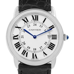 Cartier Ronde Solo Large Steel Silver Dial Unisex Watch W6700255