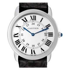 Cartier Ronde Solo Large Steel Unisex Watch W6700255 Box