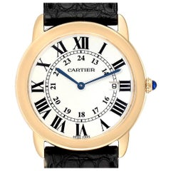Cartier Ronde Solo Large Yellow Gold Steel Unisex Watch W6700455