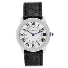 Cartier Ronde Solo Silver Dial Quarts Steel Ladies Watch W6700155 Box