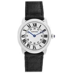 Cartier Ronde Solo Silver Dial Quarts Steel Ladies Watch W6700155