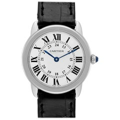 Cartier Ronde Solo Silver Dial Steel Ladies Watch W6700155