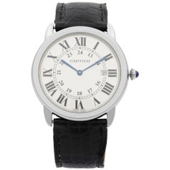 Cartier Ronde Solo Stainless Steel Silver Dial Date Quartz Unisex Watch W6700255