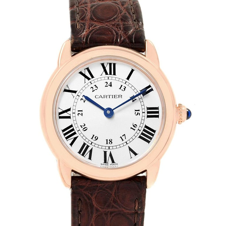 51f881b83f86 Cartier Ronde Solo Steel 18 Karat Rose Gold Small Ladies Watch W6701007 For  Sale 7