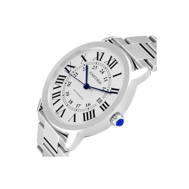 Cartier Ronde Solo W6701011 Stainless Steel Automatic Men's Watch For Sale 1