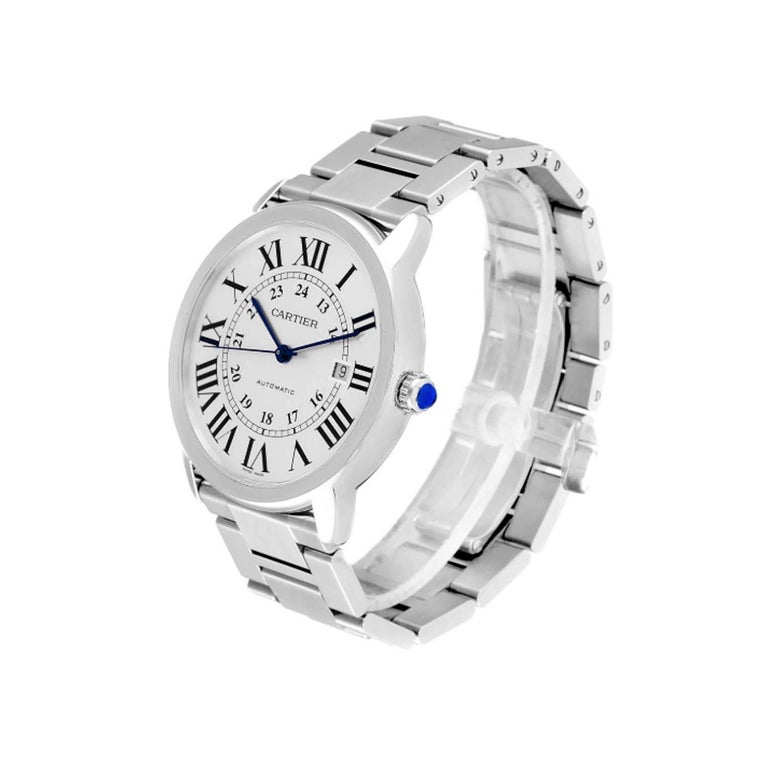 Cartier Ronde Solo W6701011 Stainless Steel Automatic Men's Watch For Sale 2