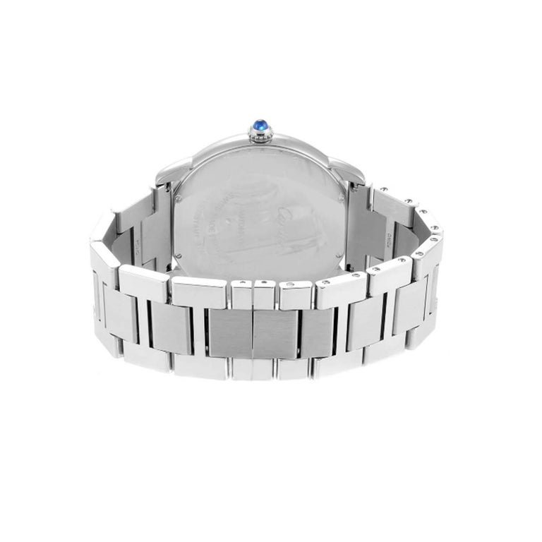 Cartier Ronde Solo W6701011 Stainless Steel Automatic Men's Watch For Sale 3